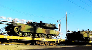 Union Pacific Hauls Iconic M1 Abrams Tank!