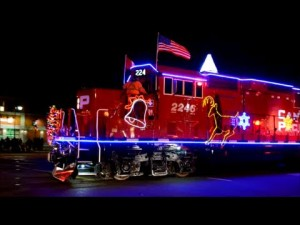 Canadian Pacific Holiday Train! Is Santa The Engineer?