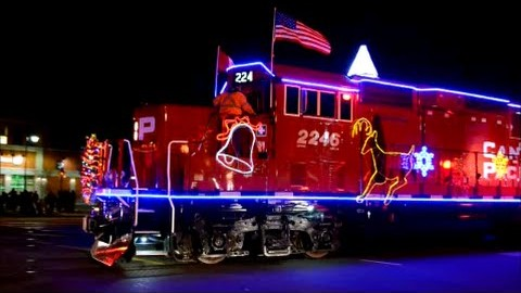 Canadian Pacific Holiday Train! Is Santa The Engineer? | Train Fanatics Videos