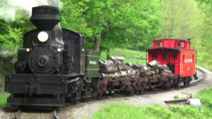 Classic Shay Locomotive Has It All | Steam, Logs & A Red Caboose!