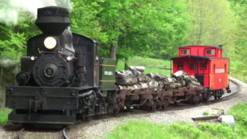 Classic Shay Locomotive Sidewinder | Train Fanatics Videos