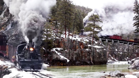 Steam and Snow In The Rockies | Train Fanatics Videos