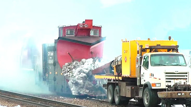 Powerful Jet Engine Turbo Melts Snow Off This Train's Plow! | Train Fanatics Videos