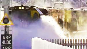 KiwiRail Train Plowing Through Deep Snow
