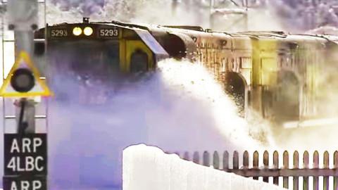 KiwiRail Train Plowing Through Deep Snow | Train Fanatics Videos
