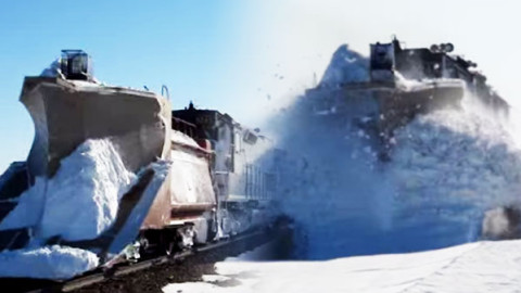 You Won't Believe Your Eyes As This Plow Comes Directly Towards You! | Train Fanatics Videos