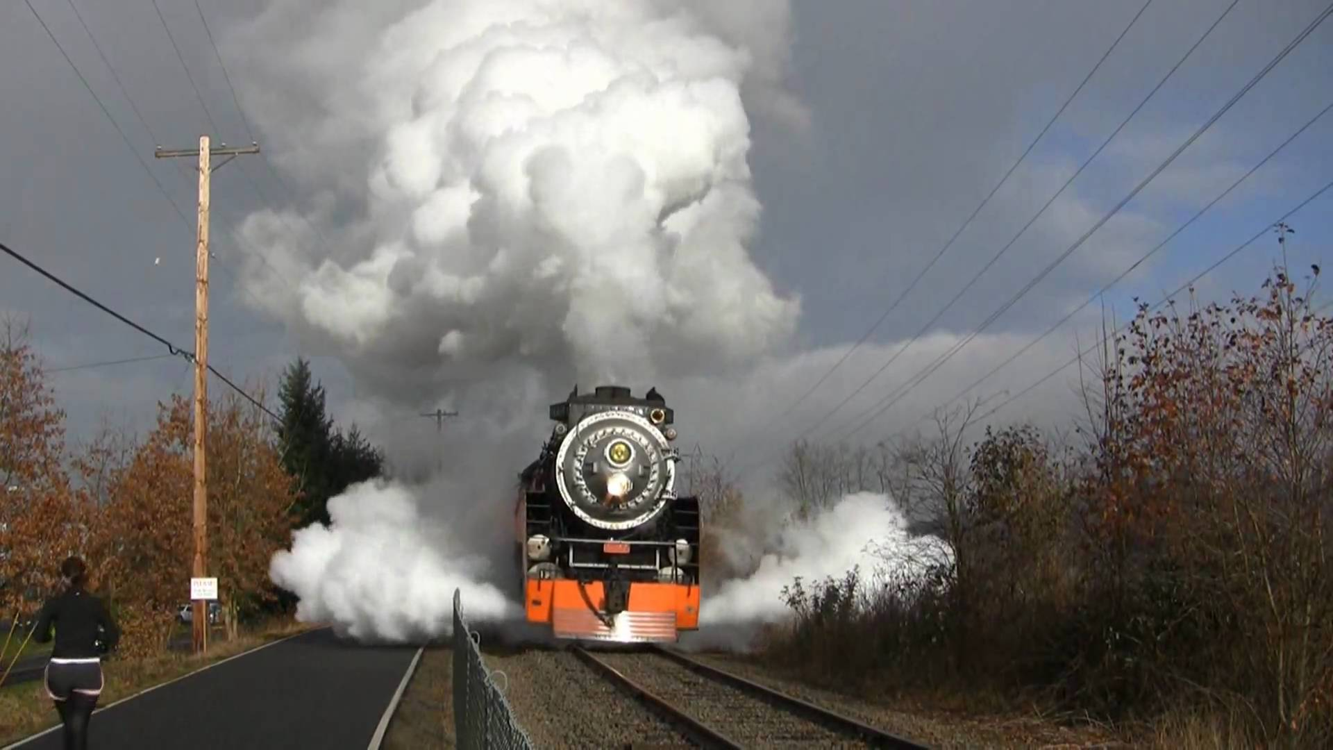 Beautiful Sp 4449 Holiday Express Train Blows Steam