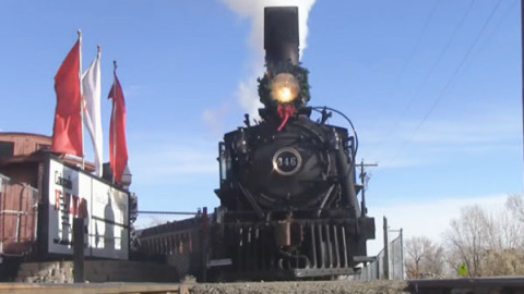 Baldwin 346 Spinning The Drivers | Colorado Railroad | Train Fanatics Videos