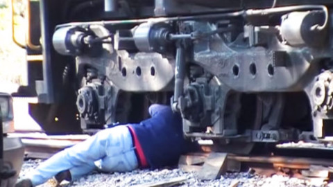 How To Get Your 398,000 Pound Locomotive Back On The Track! | Train Fanatics Videos