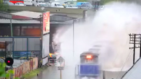 Train Makes A  Wave Dangerously Close To People | Train Fanatics Videos