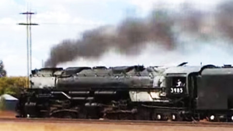Union Pacific Steam Train #3985 Chase At 70 MPH | Train Fanatics Videos