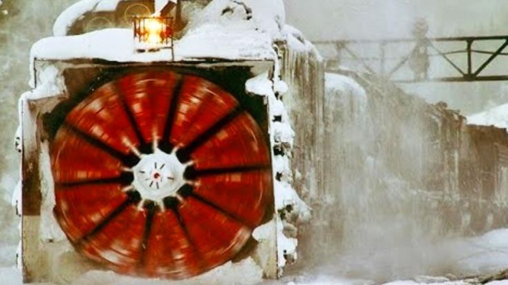 "The Rotary Snow Plow  AKA ""The War Wagon"" | Train Fanatics Videos"