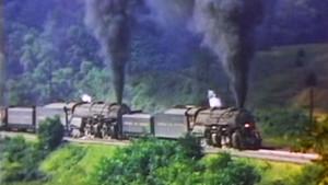 Triple Mallet Locomotives Hauling 175 Hoppers Of Coal!