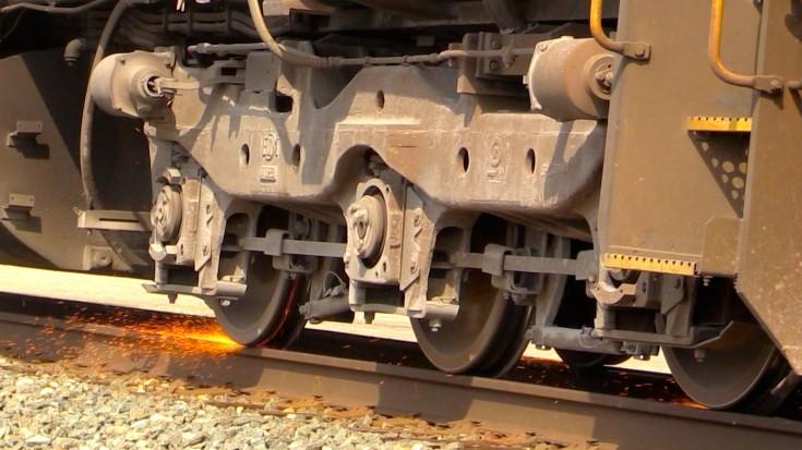 Sparks Fly When This CSX Locomotive's Wheels Start Slipping | Train Fanatics Videos