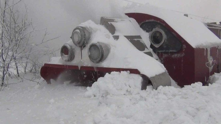 """The """"War Wagon"""" Has Met Its Match Of Ice And Snow 