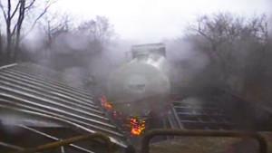 Tornado Tosses Freight Cars