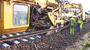 Amazing Machine Lays Miles Of Track!