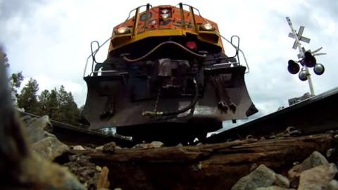 """""""Go Pro"""" From Underneath The Train Tracks!   Train Fanatics Videos"""