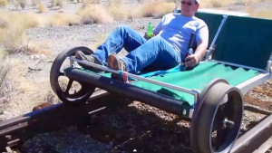 Custom Go Kart Fitted For Abandoned Railroad Tracks!