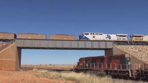 Australia's Ore Trains – Great Over And Under Bridge Shots!
