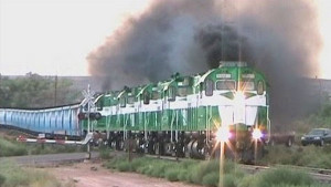"Apache Railway's ""Blue Looper"" Coal Train!"