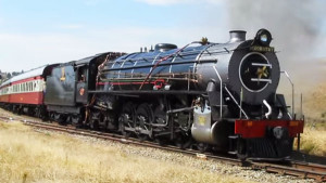 South African Rail's No. 2056 Dorothy Takes On Steep Grade!