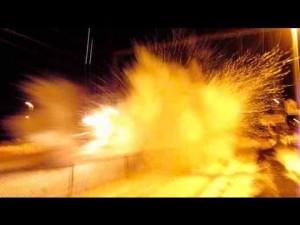 Amtrak Blasts Railfan With Snow