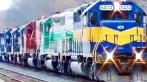 """7 Locomotive """"Lash-Up"""" Is A Colorful Sight!"""