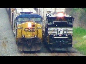CSX And NS Mixed Freights Race At A Snails Pace