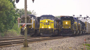 CSX Locomotives Have A Surprise On The Center Track!