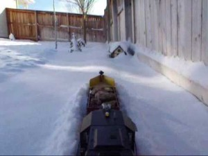 """G"" Scale Train Plows Snow Effortlessly!"