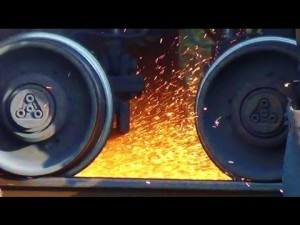 Rail Grinding Makes The Sparks Fly!