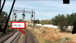 """Kink"" In The Tracks Nearly Leads To Derailment!"