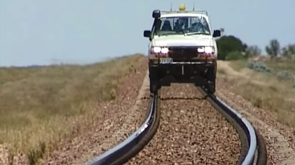 Awesome Truck Quot Rail Riding Quot In Australia Train Fanatics
