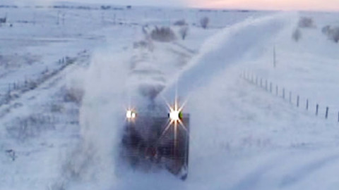 Union Pacific Rotary Snow Plow Action! | Train Fanatics Videos