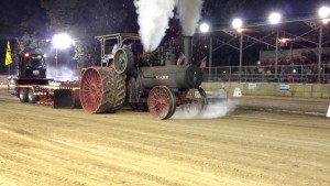 Traction Steam Engine Showers Sparks!