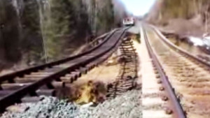 CN High Rail Worker Gets A Terrifying Washout Scare!