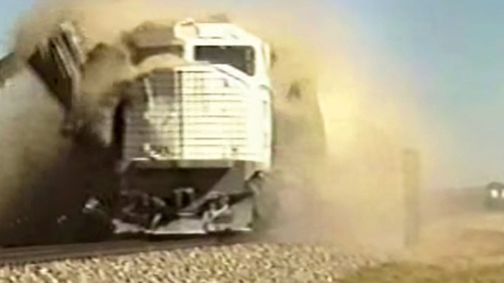 Used Cars Pueblo >> EMD 45-2 Locomotives Used As Crash Test Dummys! - Train Fanatics