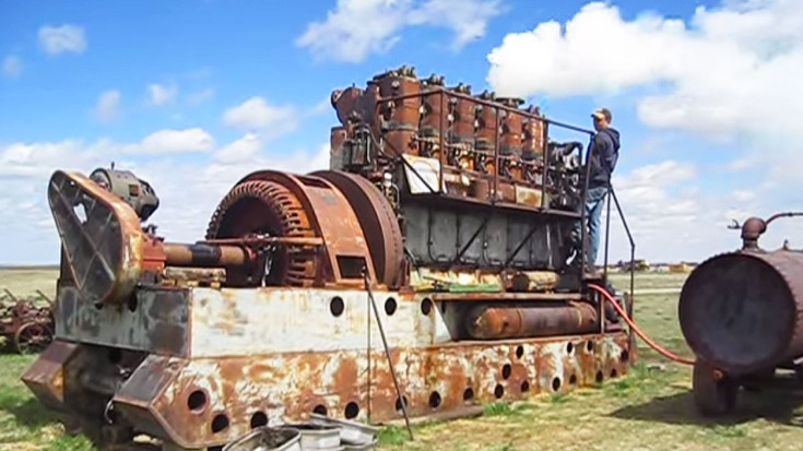 Antique Diesel Engine Starts For First Time In 30 Years | Train Fanatics Videos