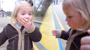 ADORABLE: 3 Year Olds Dream Comes True Rides Amtrak
