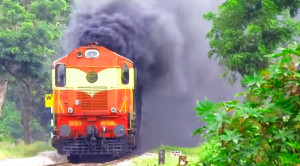 Black Smoke Billows On The Udyan Express!