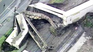 RARE: Mudslide Derails BNSF Freight Train!