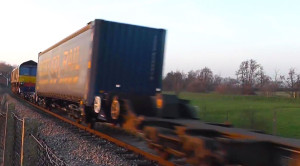 Bouncing Freight Train Escapes Derailment!