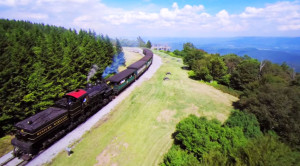Unbelievable Drone View Of Cass Scenic Railroad!