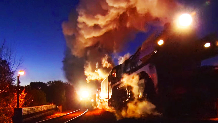 RARE: Two Steam Double Headers Side By Side! | Train Fanatics Videos