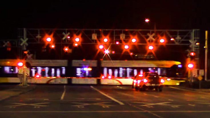 Railroad Crossing Stop Look And Listen Train Fanatics