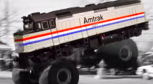 Introducing Amtraks Amazing Monster Truck!