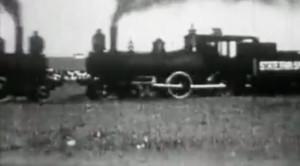 1913 State Fair Has Two High Speed Steam Locomotives Collide!