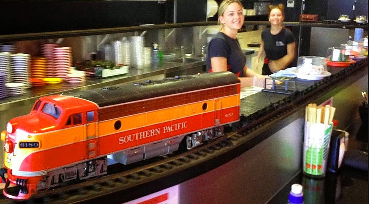 The Must See Model Train Sushi Bar! - Train Fanatics