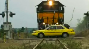 Surprising Locomotive Crash Test With Airbags!